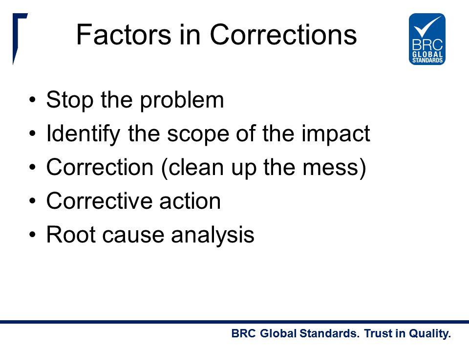 Factors in Corrections