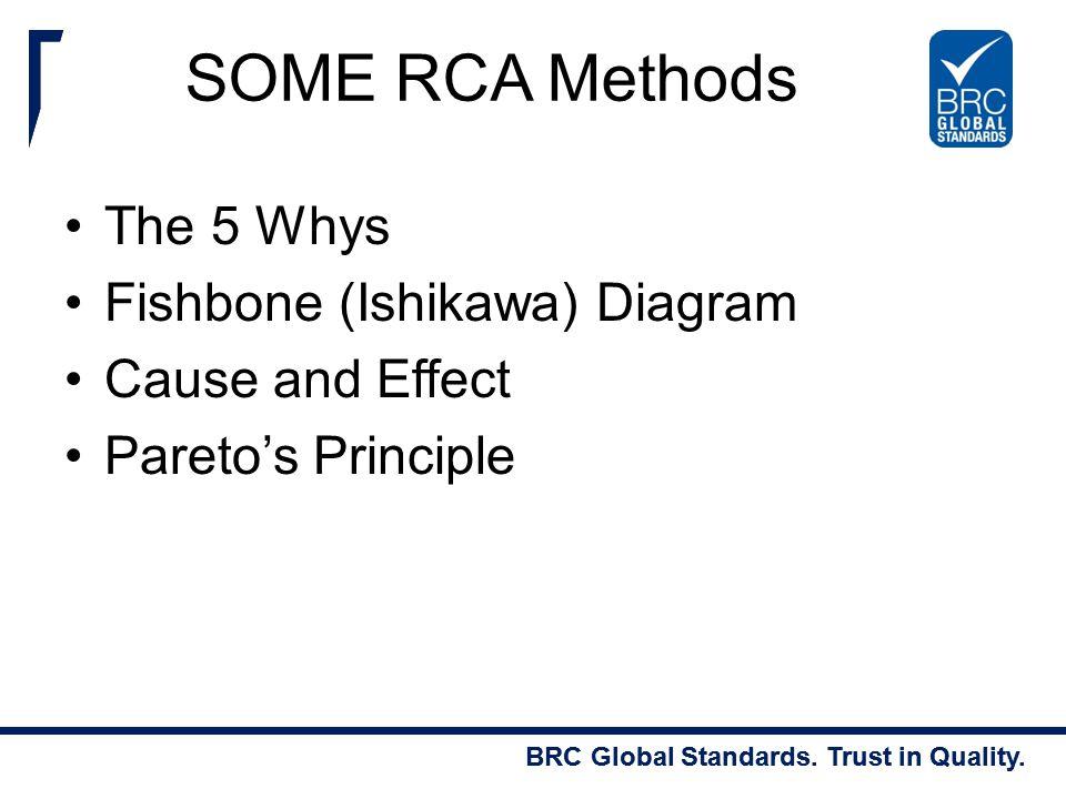 SOME RCA Methods The 5 Whys Fishbone (Ishikawa) Diagram