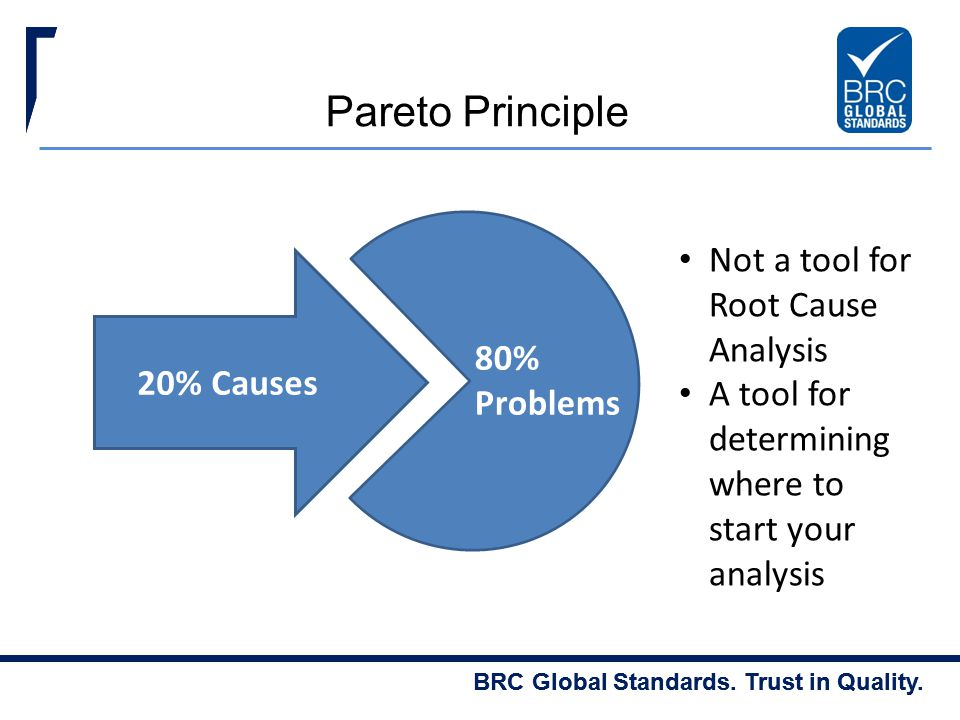 Pareto Principle Not a tool for Root Cause Analysis