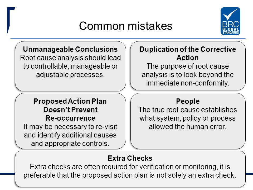 Common mistakes Unmanageable Conclusions