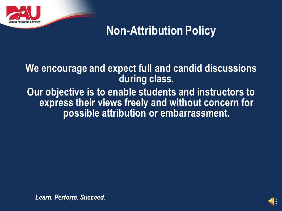 Non-Attribution Policy