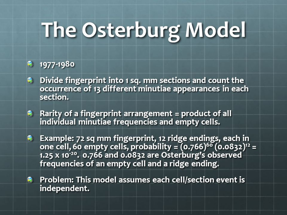 The Osterburg Model 1977-1980.