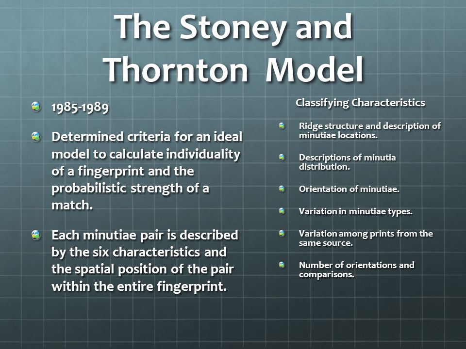 The Stoney and Thornton Model