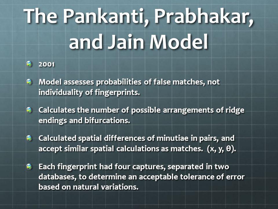 The Pankanti, Prabhakar, and Jain Model