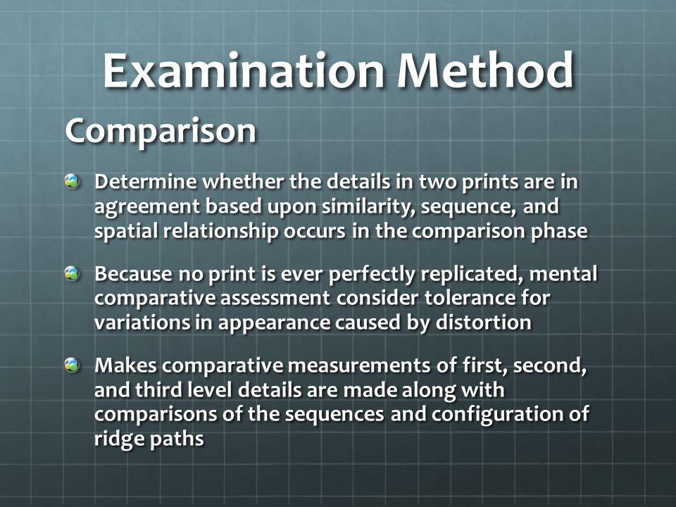 Examination Method Comparison