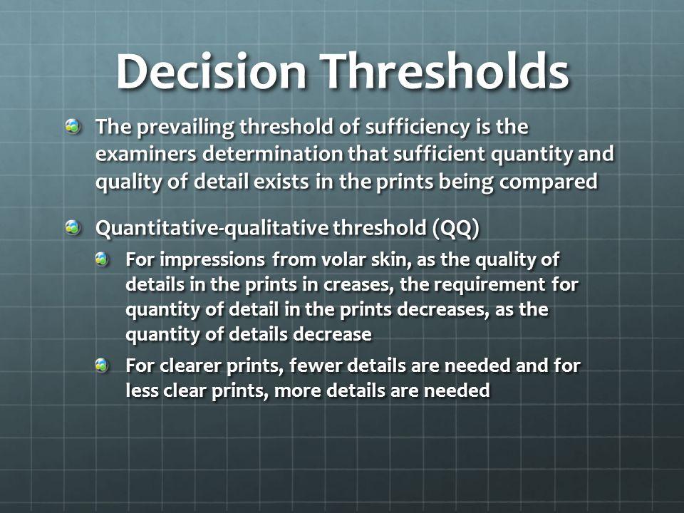 Decision Thresholds