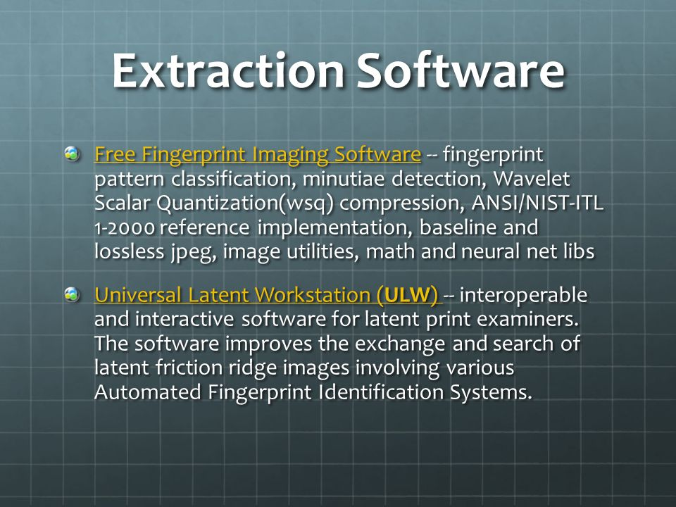 Extraction Software