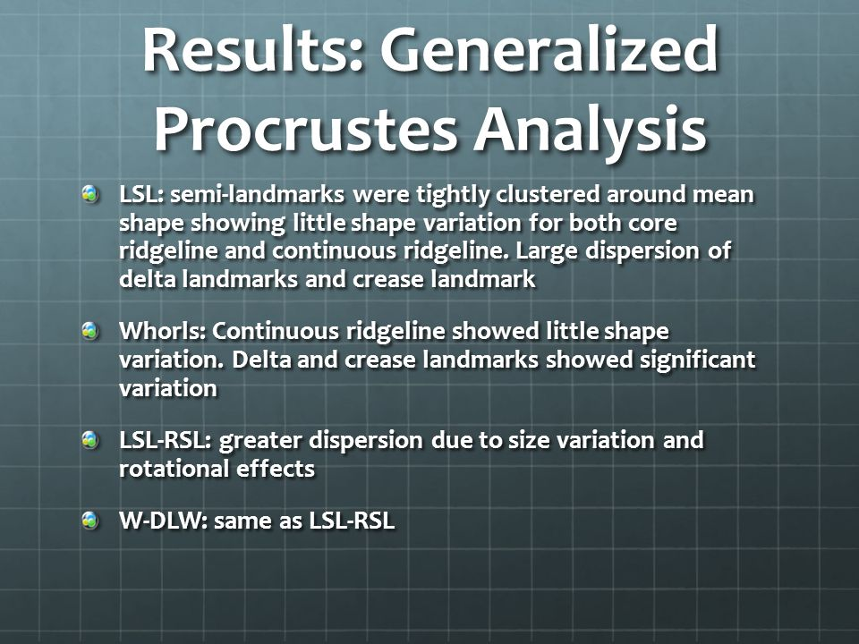 Results: Generalized Procrustes Analysis
