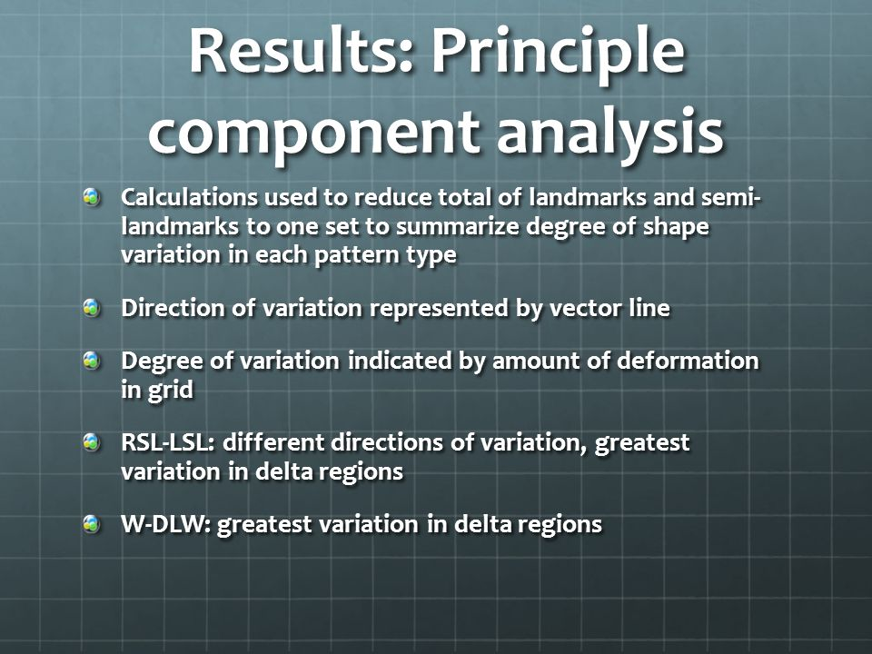 Results: Principle component analysis
