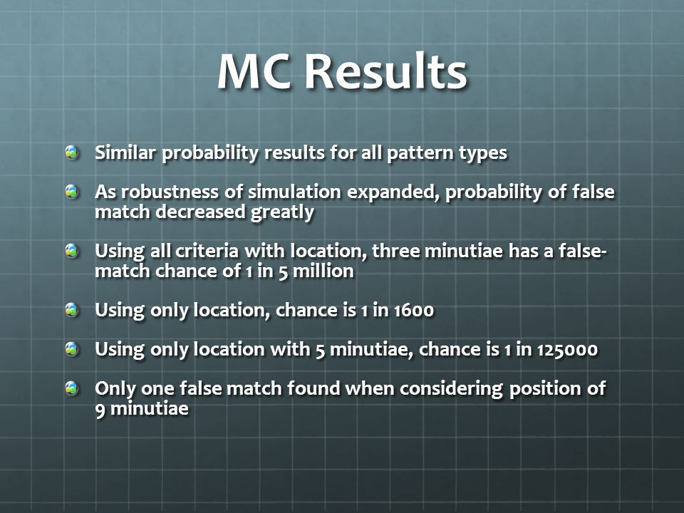 MC Results Similar probability results for all pattern types
