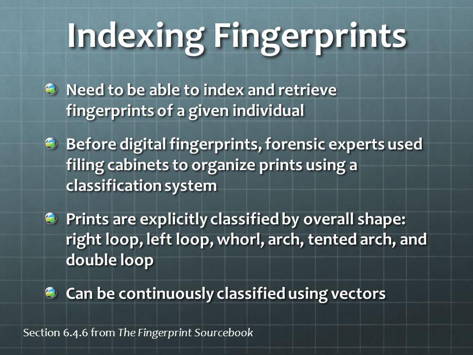 Indexing Fingerprints