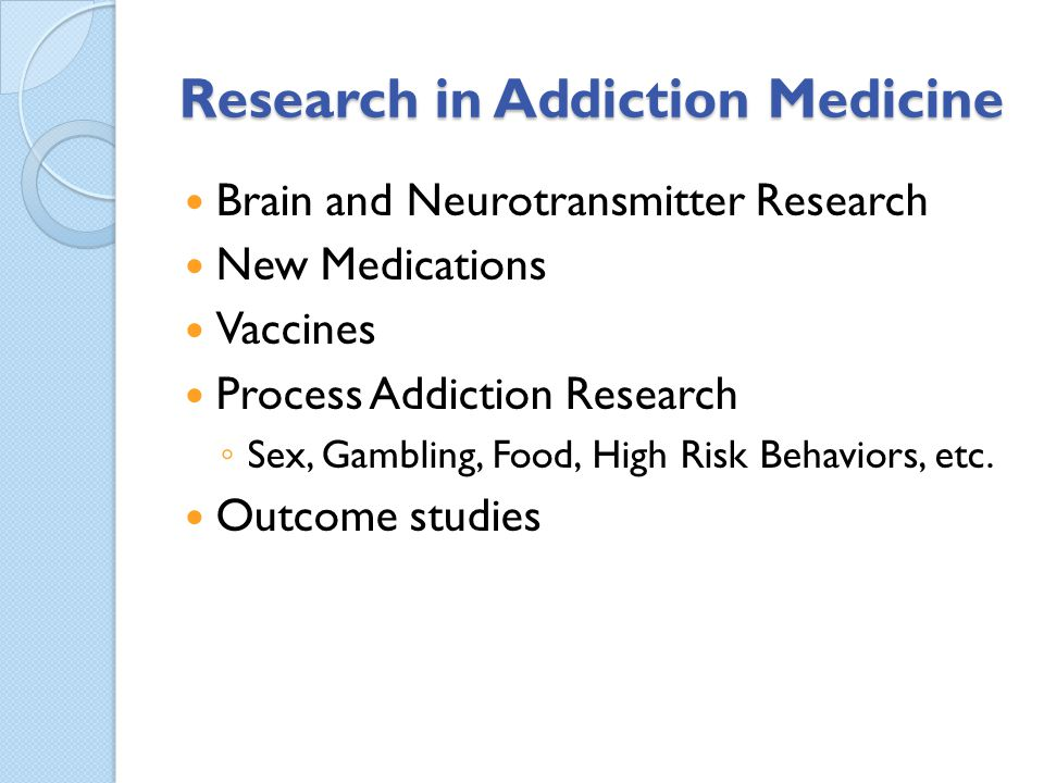 Research in Addiction Medicine