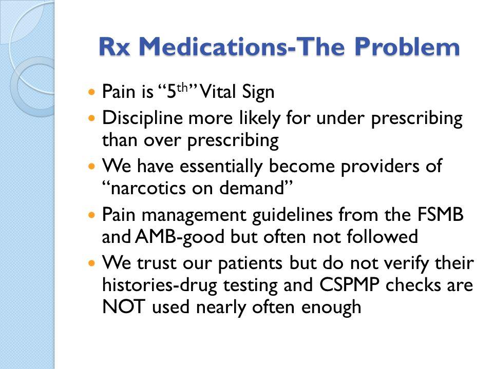 Rx Medications-The Problem