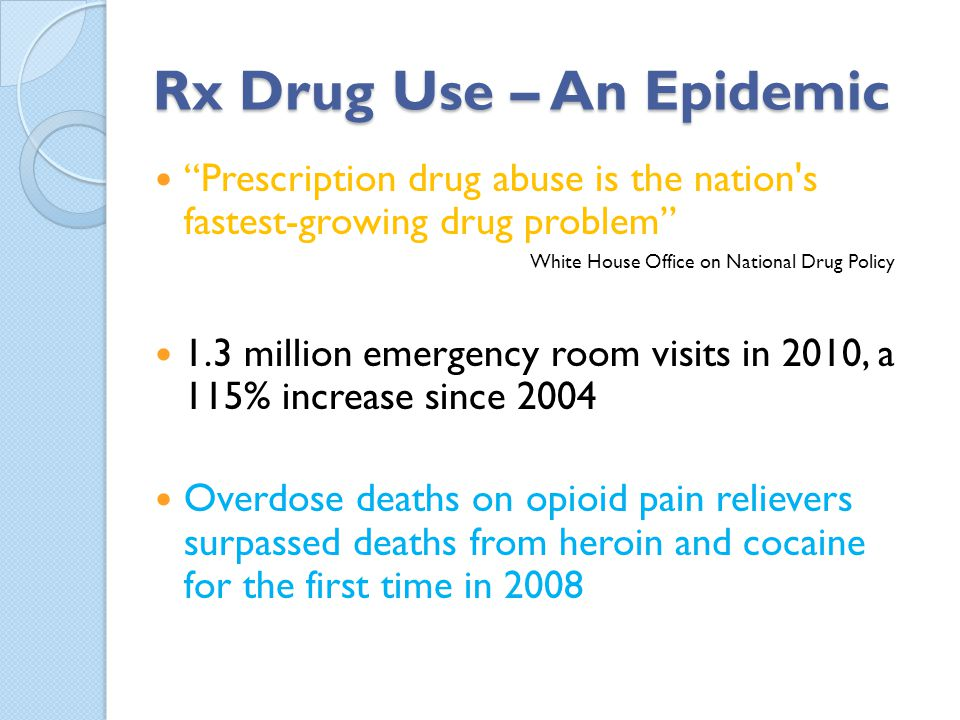 Rx Drug Use – An Epidemic