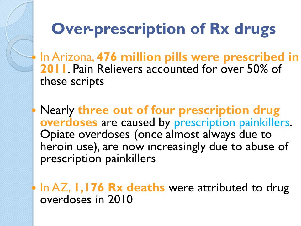 Over-prescription of Rx drugs