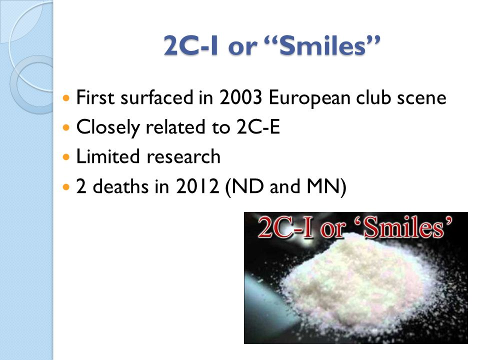 2C-I or Smiles First surfaced in 2003 European club scene