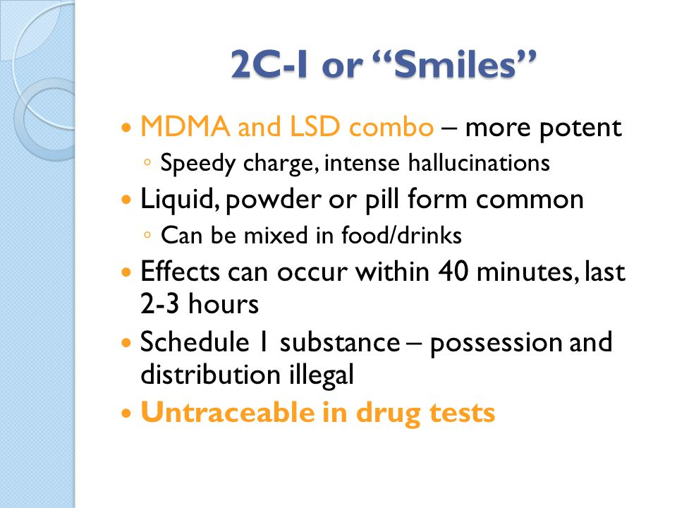 2C-I or Smiles MDMA and LSD combo – more potent