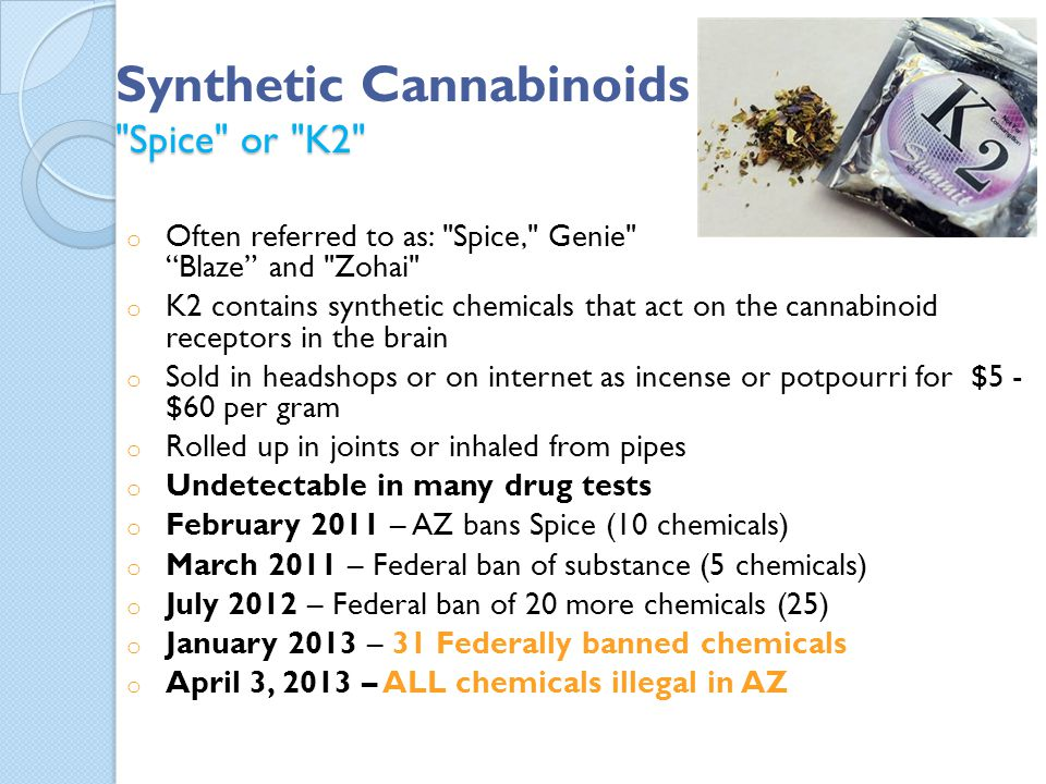 Synthetic Cannabinoids Spice or K2