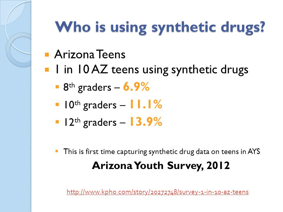 Who is using synthetic drugs