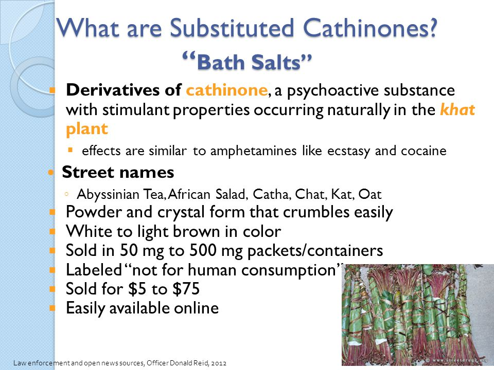 What are Substituted Cathinones Bath Salts