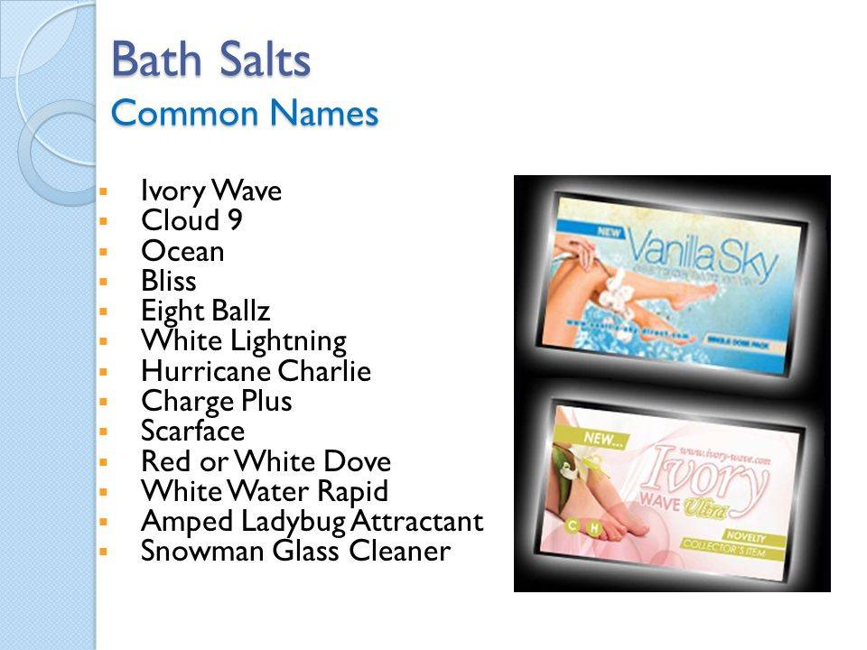 Bath Salts Common Names