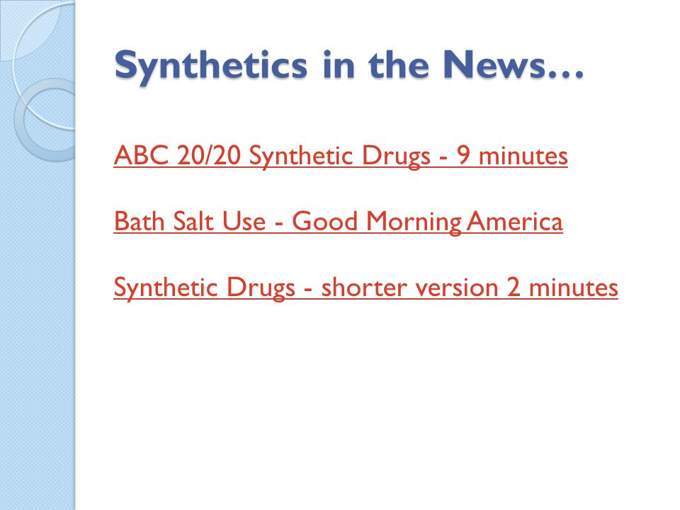Synthetics in the News…