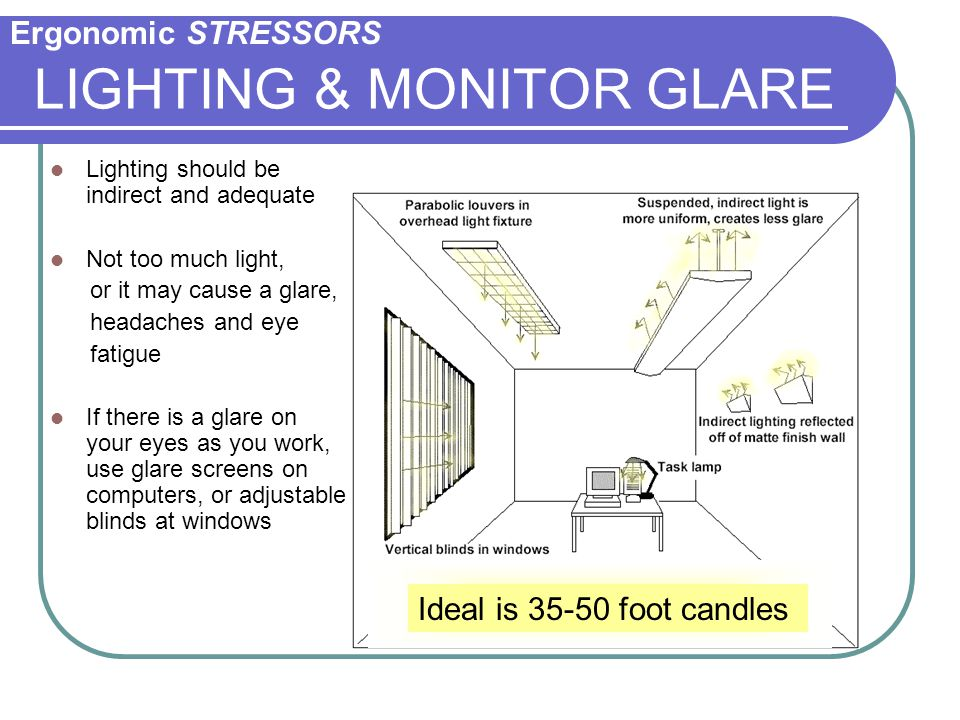 LIGHTING & MONITOR GLARE