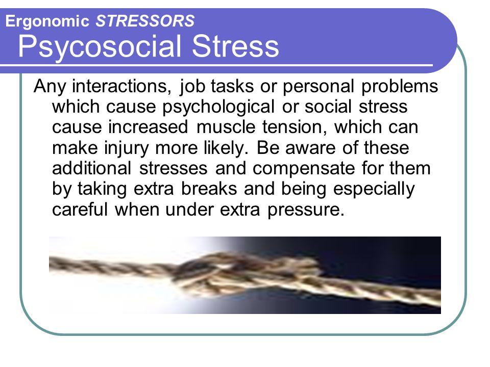 Ergonomic STRESSORS Psycosocial Stress.