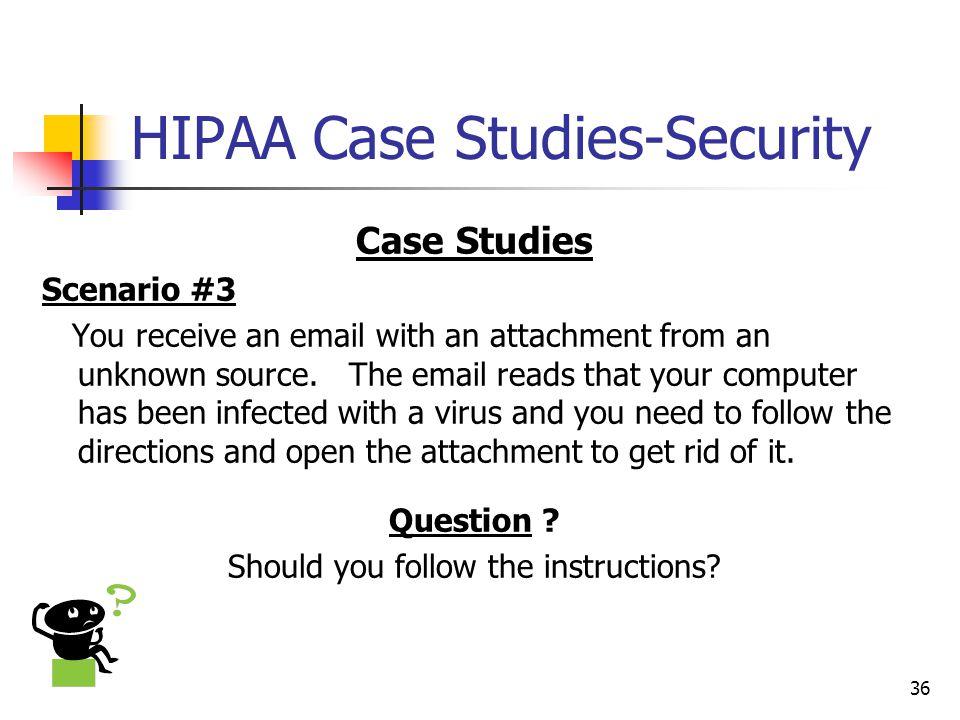HIPAA Case Studies-Security