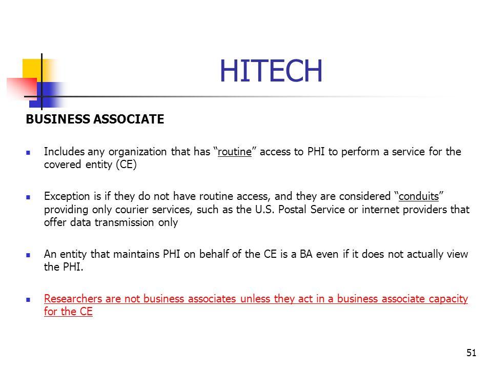 HITECH BUSINESS ASSOCIATE