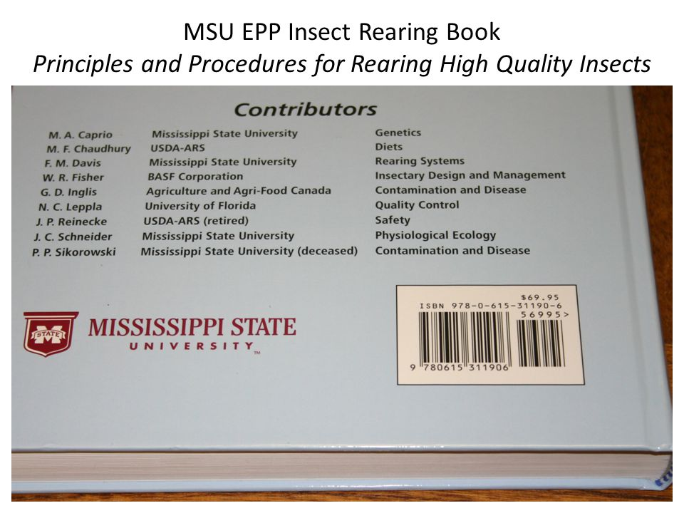 MSU EPP Insect Rearing Book Principles and Procedures for Rearing High Quality Insects
