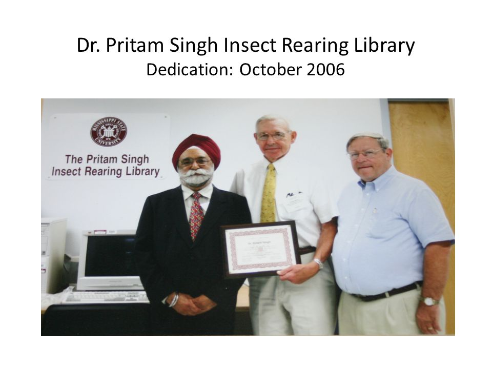 Dr. Pritam Singh Insect Rearing Library