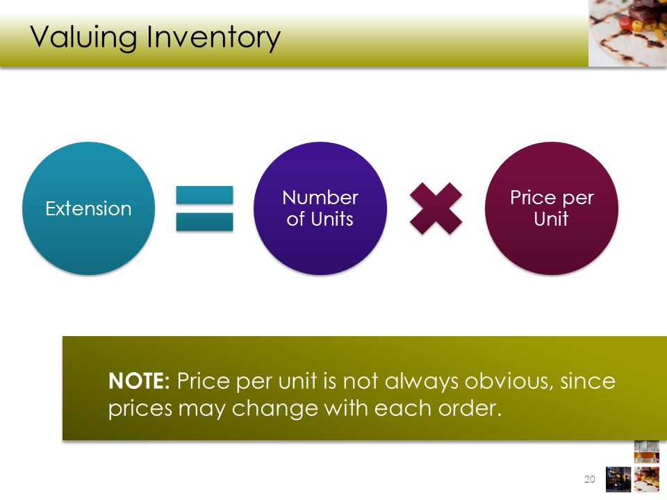 Valuing Inventory Extension. Number of Units. Price per Unit.