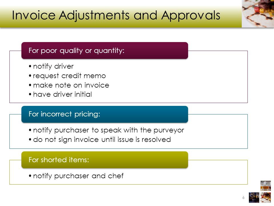 Invoice Adjustments and Approvals