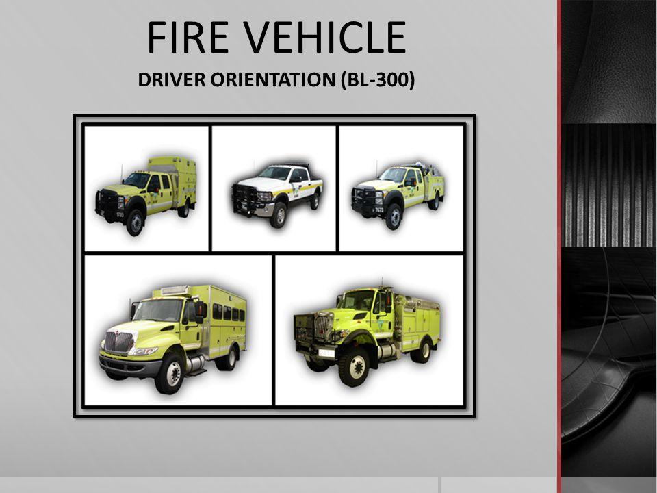 DRIVER ORIENTATION (BL-300)