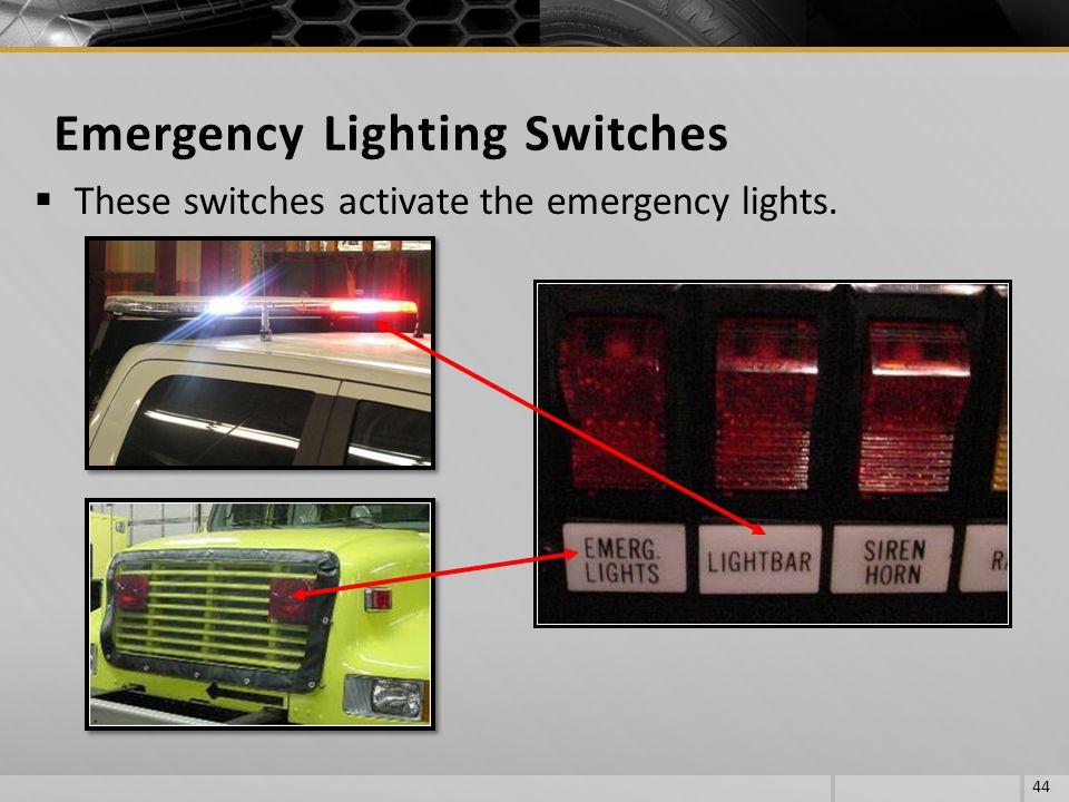 Emergency Lighting Switches