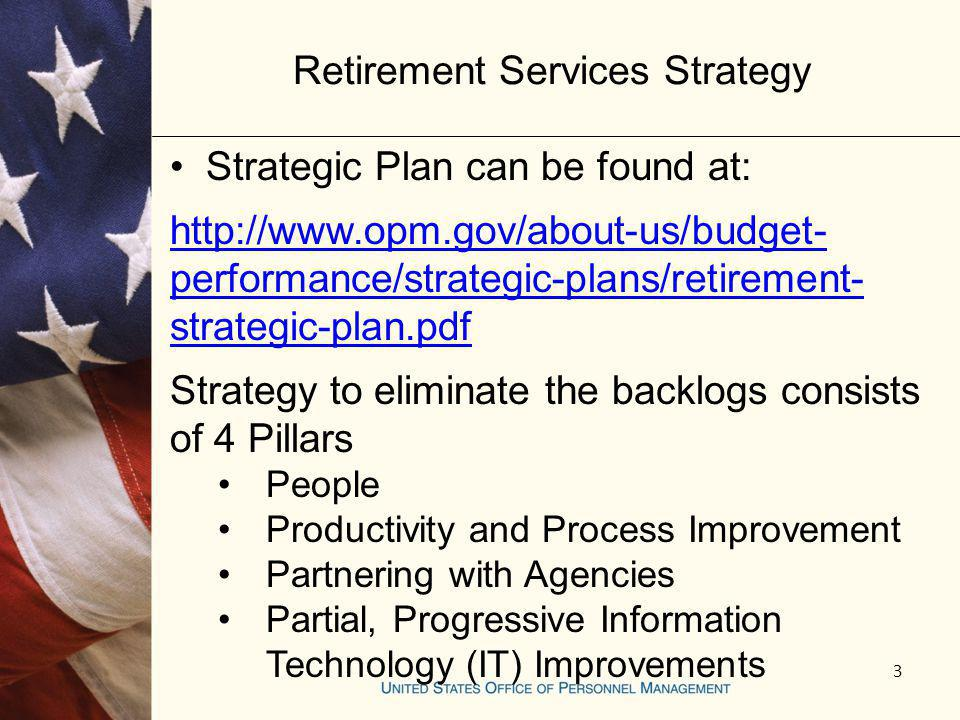 Retirement Services Strategy