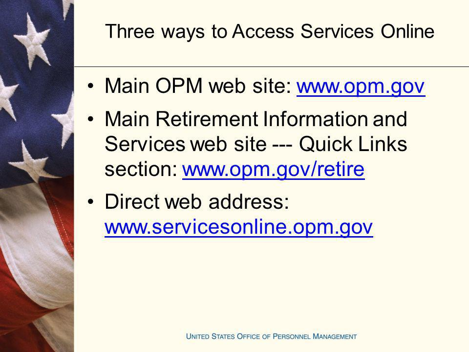 Three ways to Access Services Online