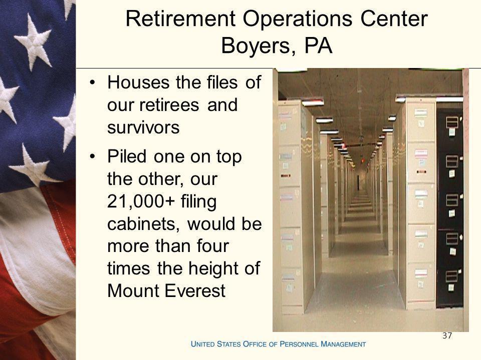 Retirement Operations Center Boyers, PA