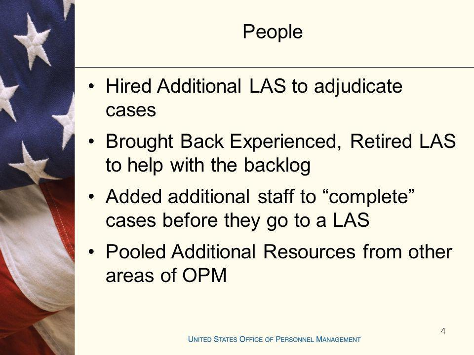 Hired Additional LAS to adjudicate cases