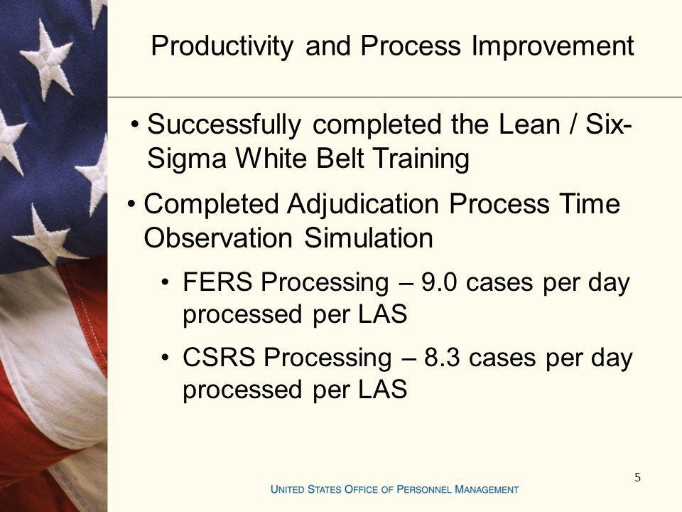 Productivity and Process Improvement
