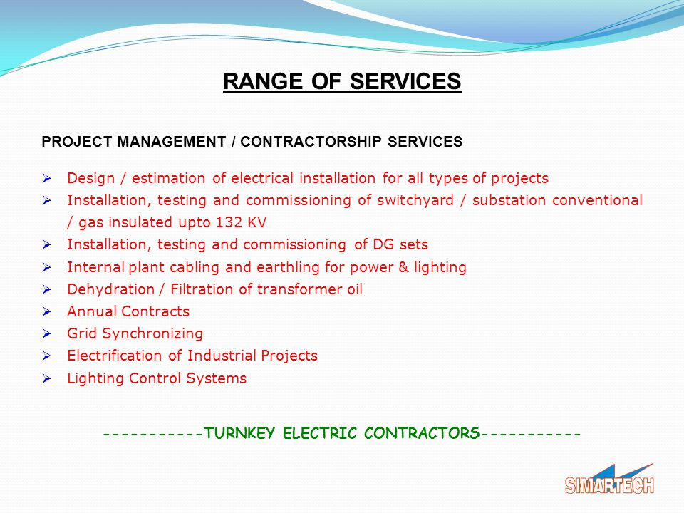-----------TURNKEY ELECTRIC CONTRACTORS-----------