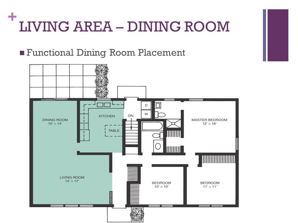 LIVING AREA – DINING ROOM