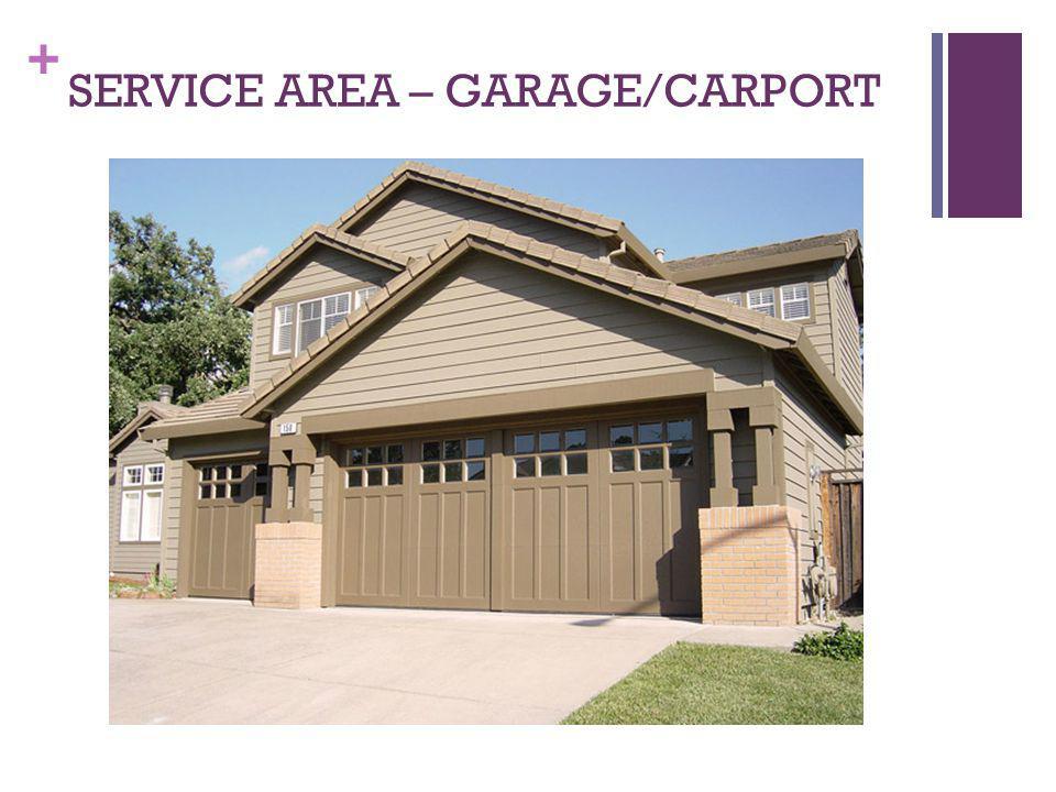 SERVICE AREA – GARAGE/CARPORT