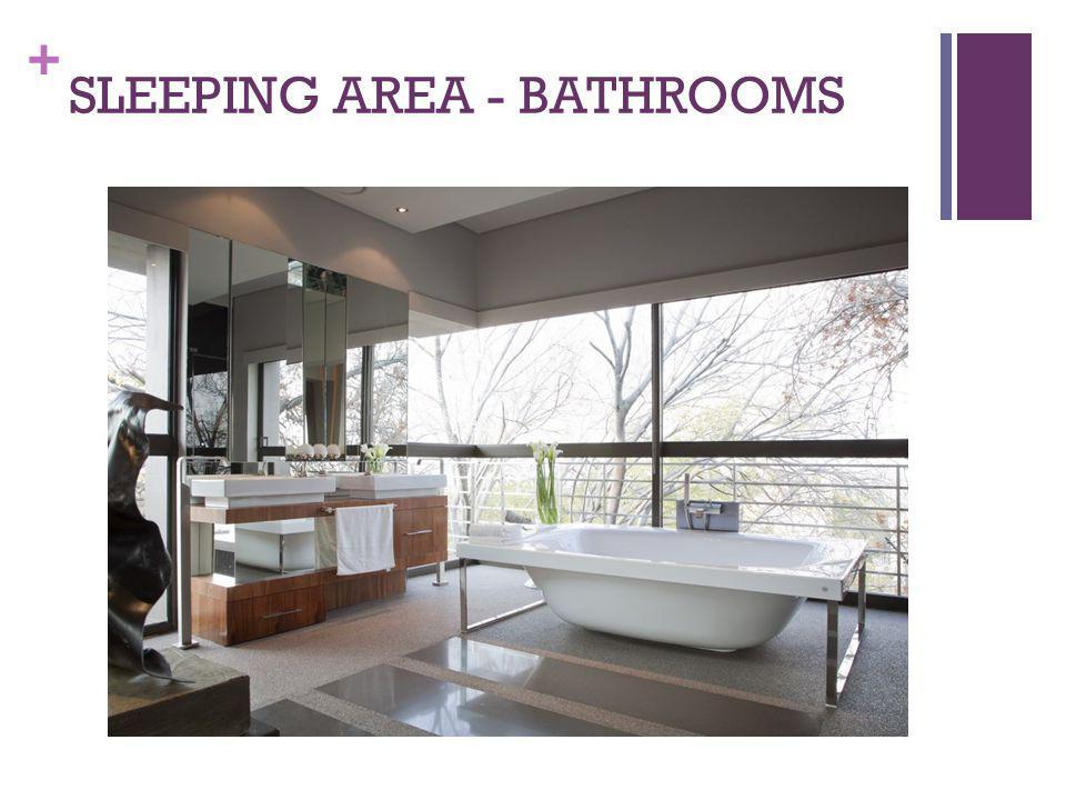 SLEEPING AREA - BATHROOMS