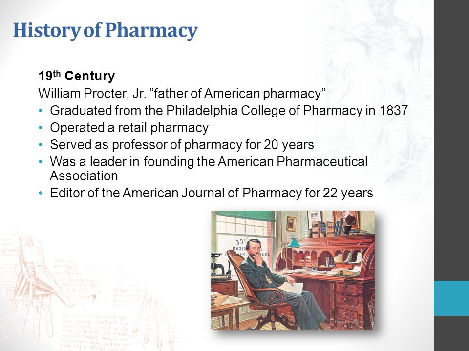 History of Pharmacy 19th Century