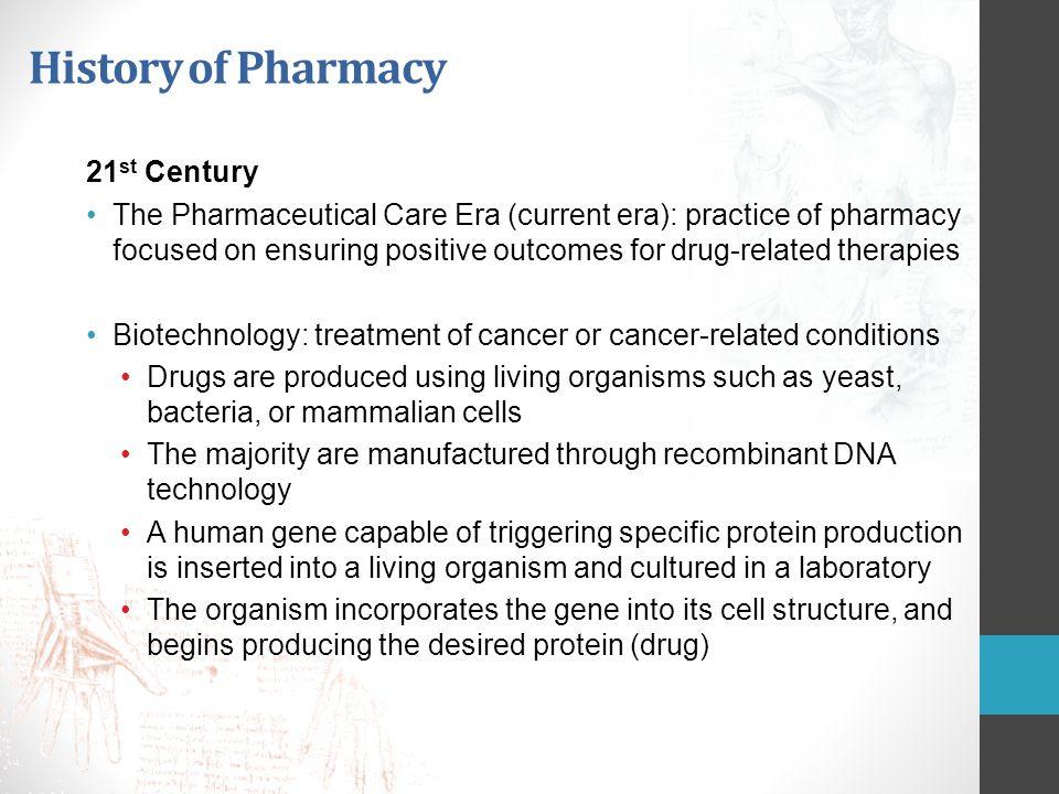 History of Pharmacy 21st Century