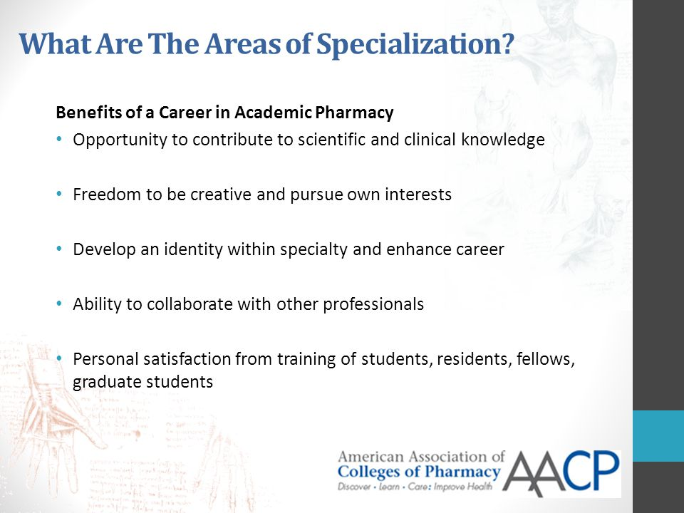 What Are The Areas of Specialization