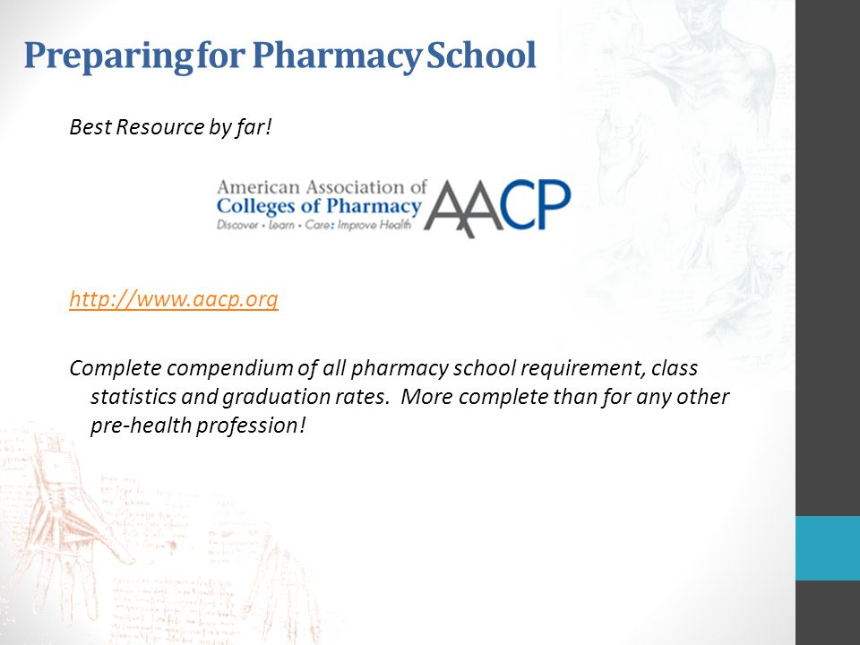 Preparing for Pharmacy School