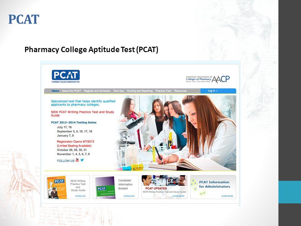 PCAT Pharmacy College Aptitude Test (PCAT)